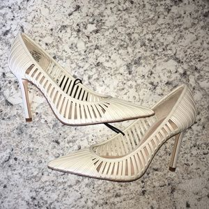 Zara Strappy Heeled Shoes Size US7 1/2 EU38 NWT